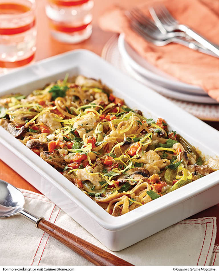 Lighter Chicken/Veggie Tetrazzini