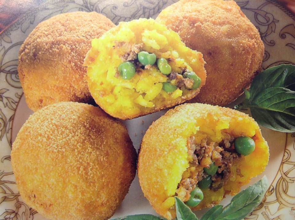 Arancini Pea And Rice Balls