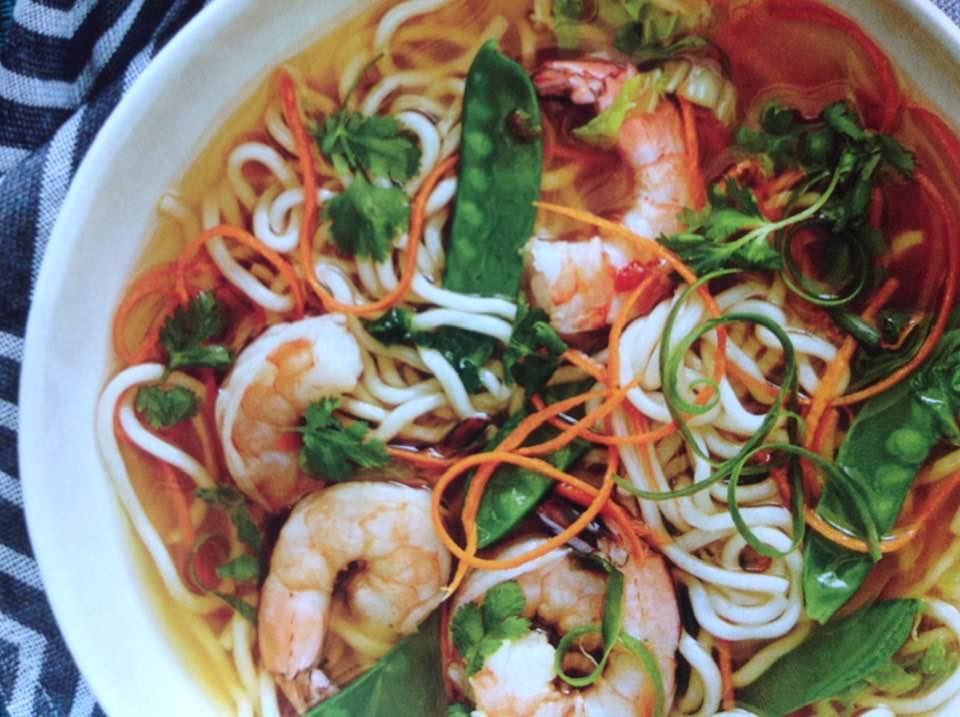 Spicy Shrimp And Noodle Soup