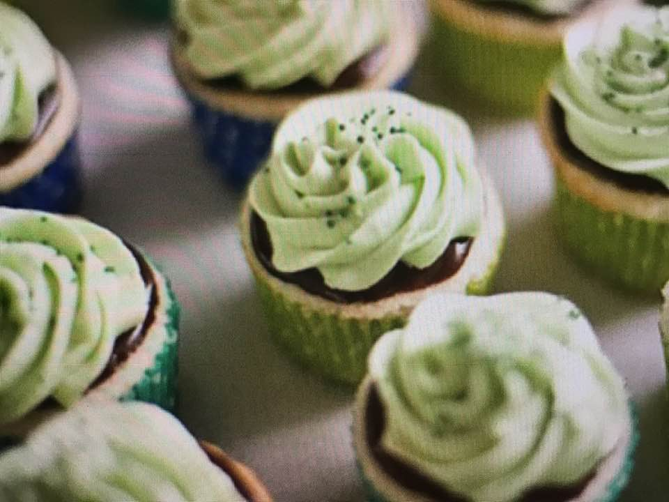 St. Paddy's Minty Cupcakes
