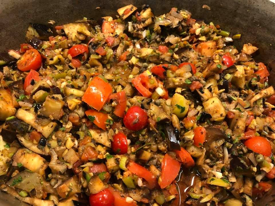 My Other Favorite Summer Cooking Thing Besides Stuffed Artichoke Is Caponata. Love Eggplant This Way!