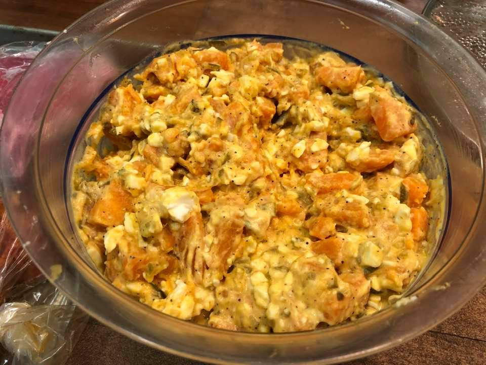 Yam Potato Salad.   Recipe Included For Those Of You Who Requested It.