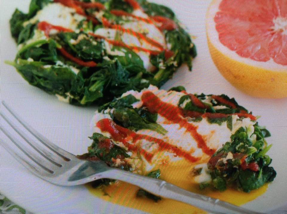 Easy Eggs And Spinach Nests