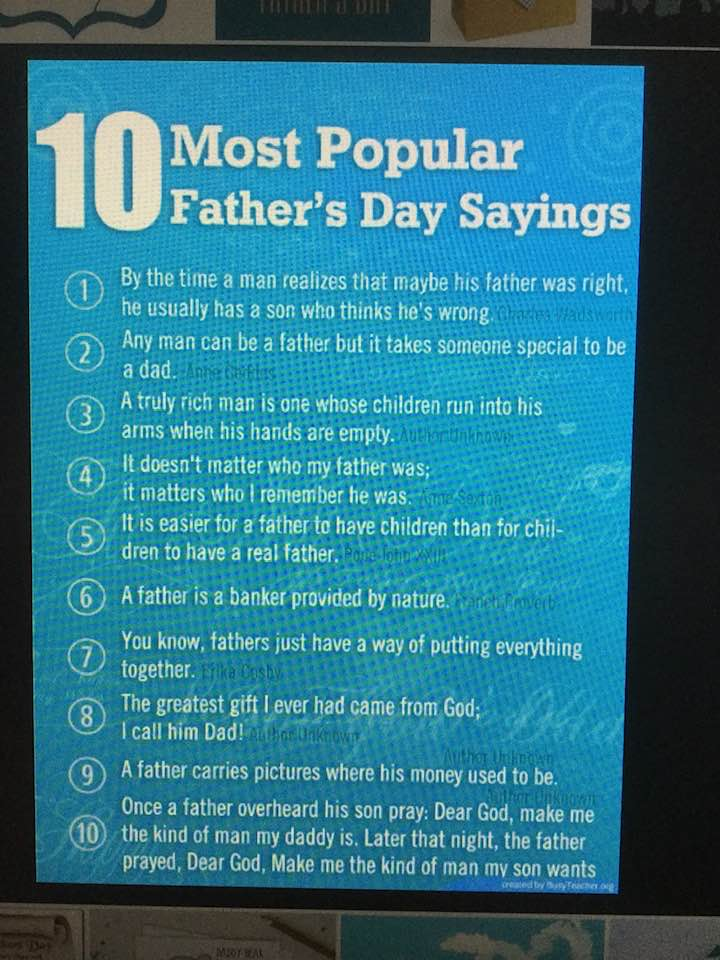 Most Popular Father's Day Sayings!