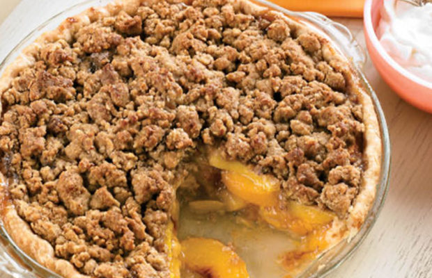 Peachy Streusel Pie