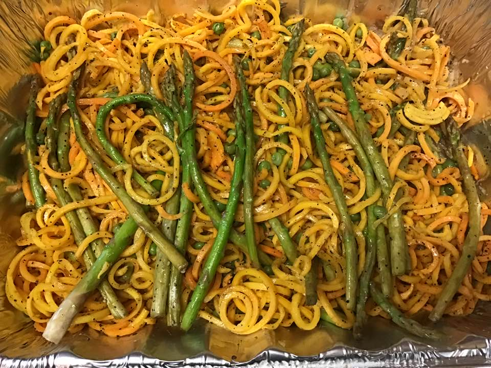 Amazing Zoodles, Asparagus And Pea Dish