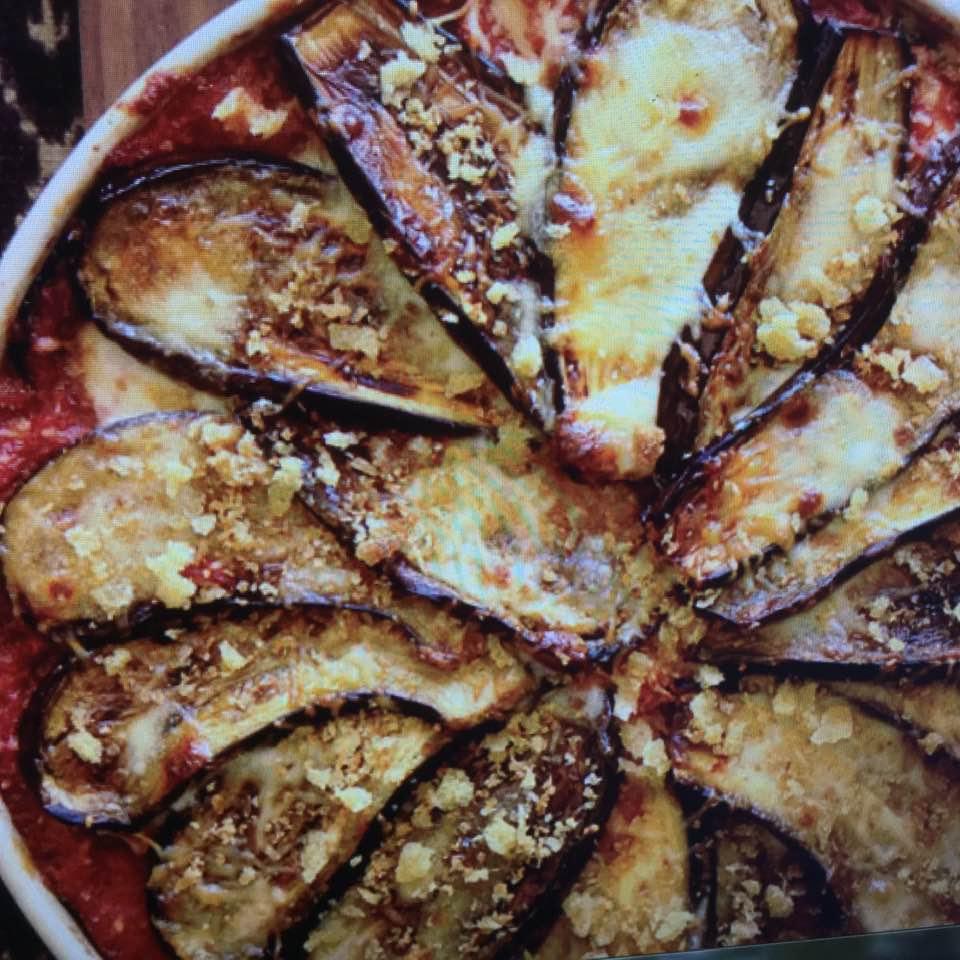Delicate Pinwheel Eggplant Parmesan