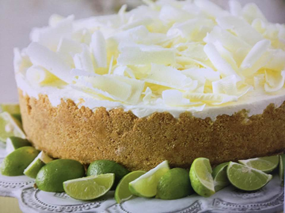 Paula Deen's No-Bake Key Lime Mousse Cake