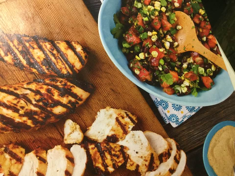 Chipotle Grilled Chicken Breasts With Corn/Black Bean Salsa