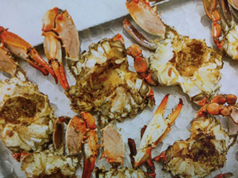 Delicious Barbecued Crabs