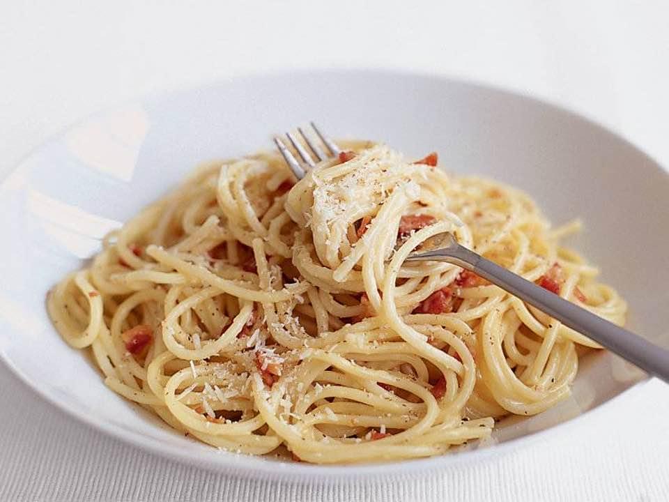 Delicious Creamy Spaghetti Carbonara