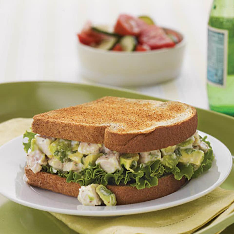 Scrumptious Avocado-Chicken Salad Sandwiches