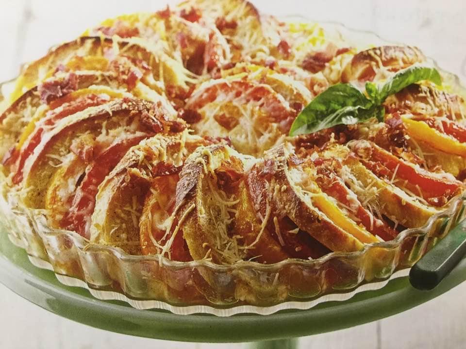 Crispy Tomato And Baguette Tart
