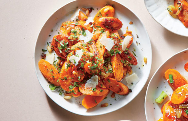 Fancy Parmesan Carrots With Lemon-Parsley Dressing