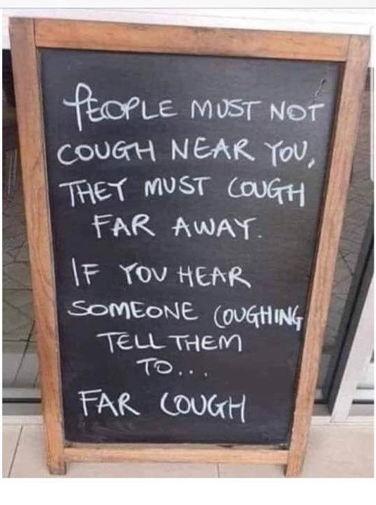 People Must Not Cough...