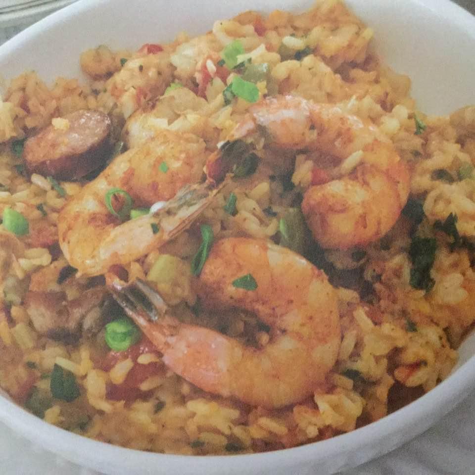 Shrimp, Chicken And Andouille Jambalaya