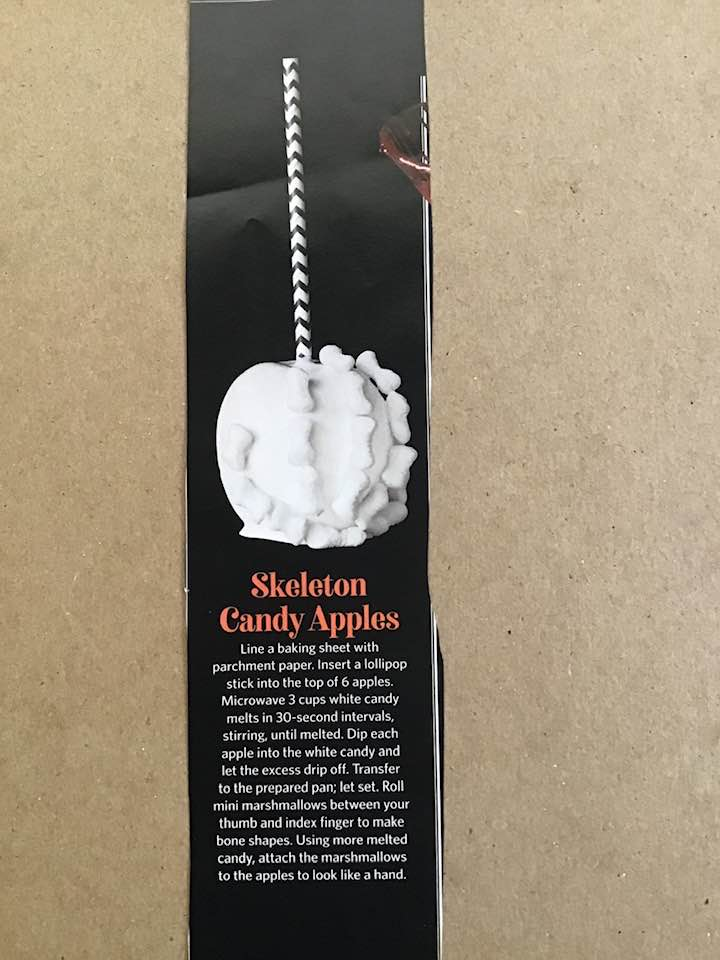 Skeleton Candy Apples