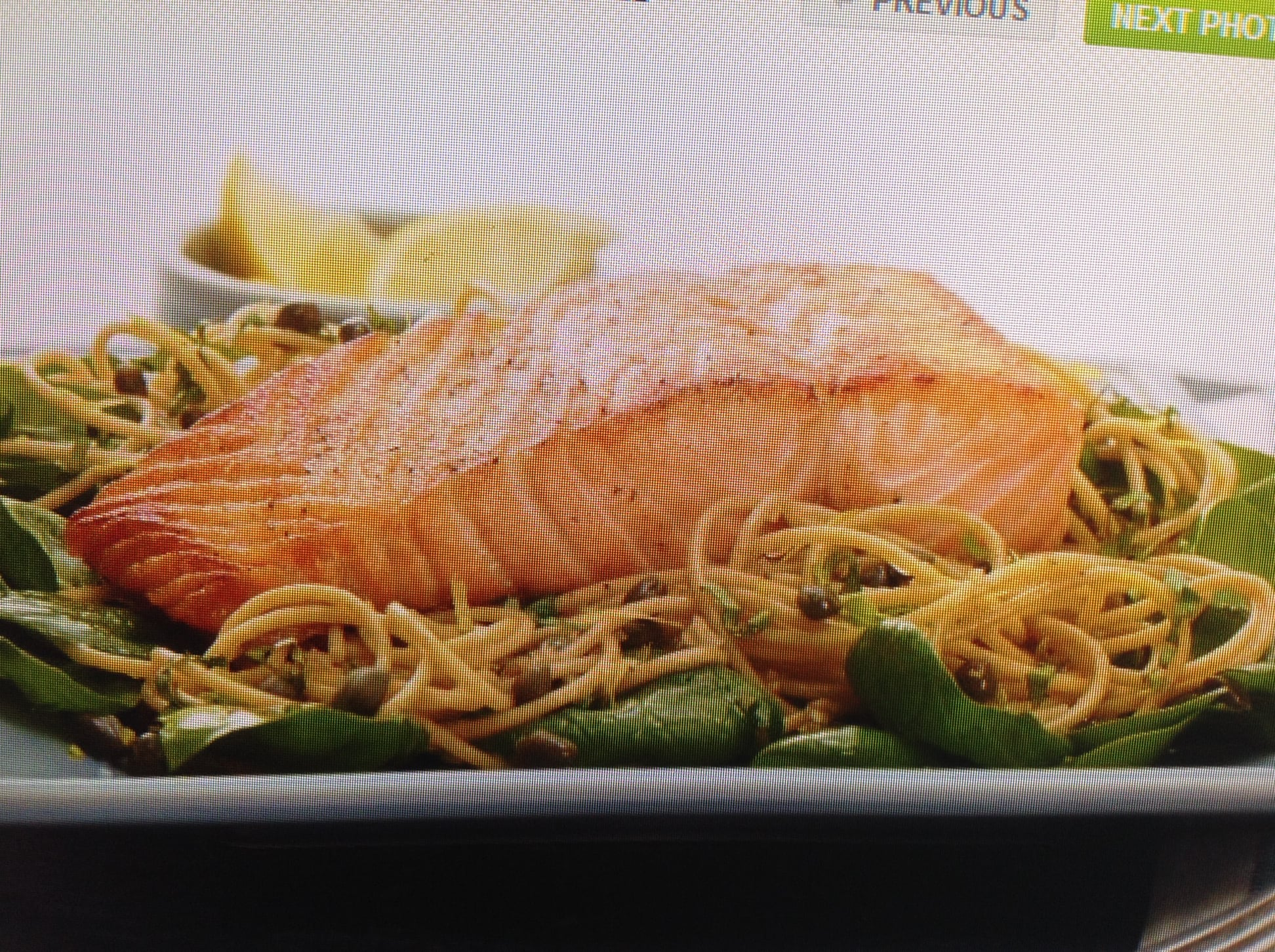 Lemony Pan Saute Salmon With Whole Wheat Pasta