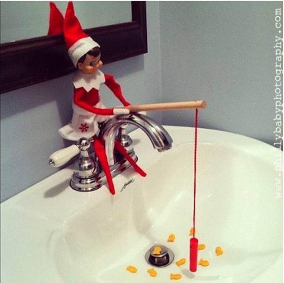 Fishing Christmas Elf