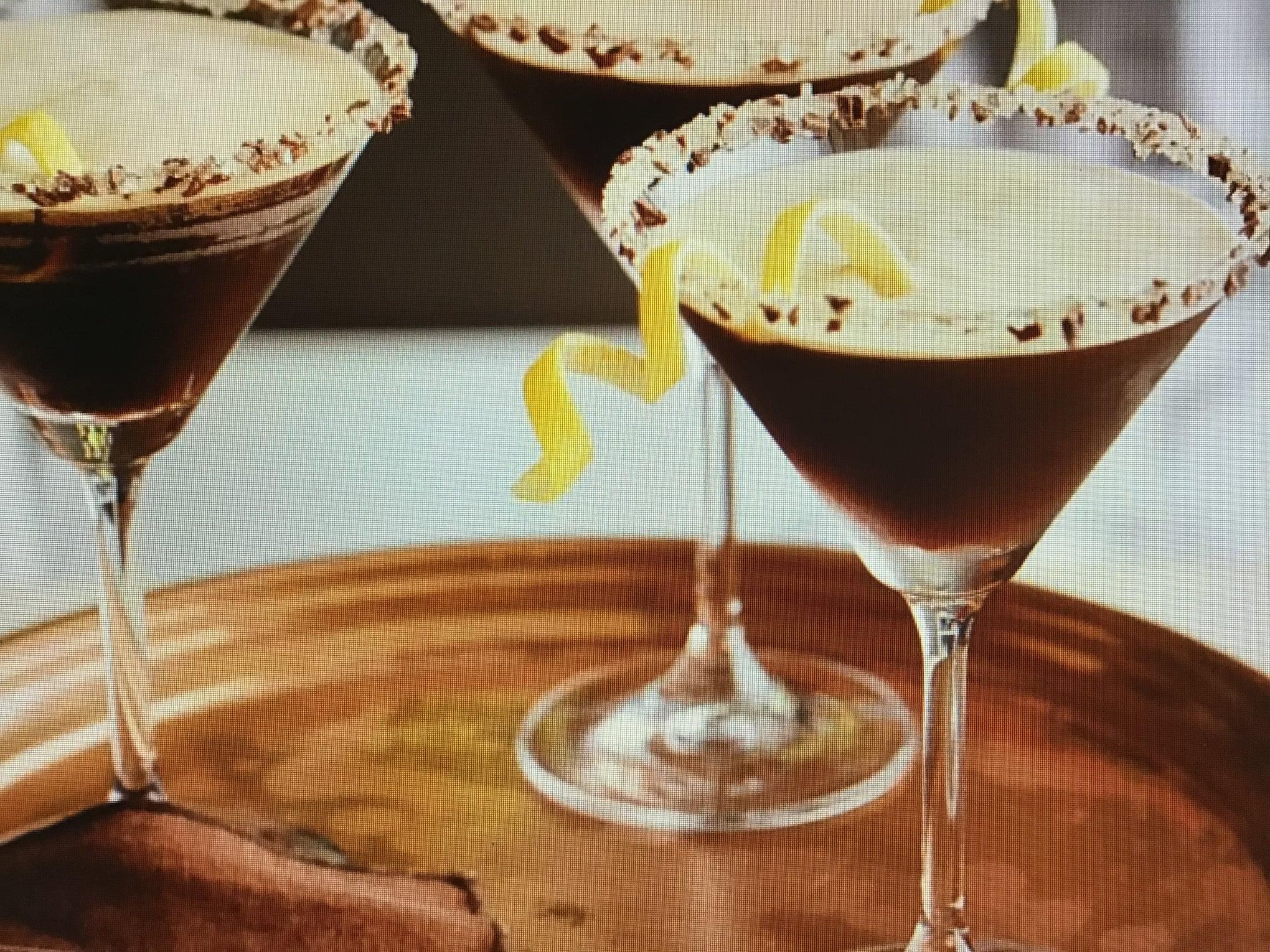 Holiday White Chocolate Cherry Martini