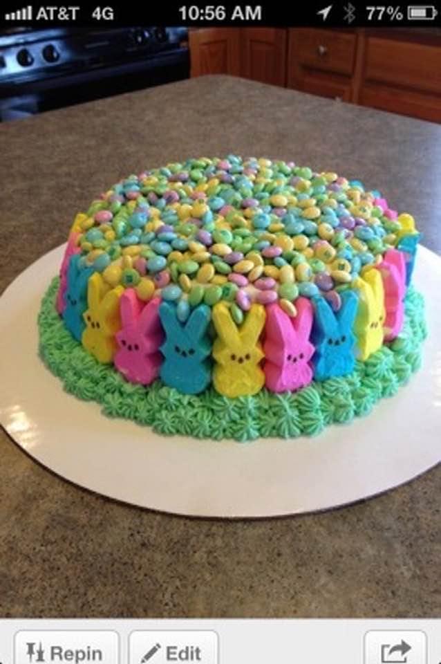 Peep Cake With M's!