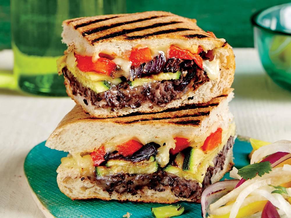 Crispy Grilled Mexican-Style Veggie Sandwich