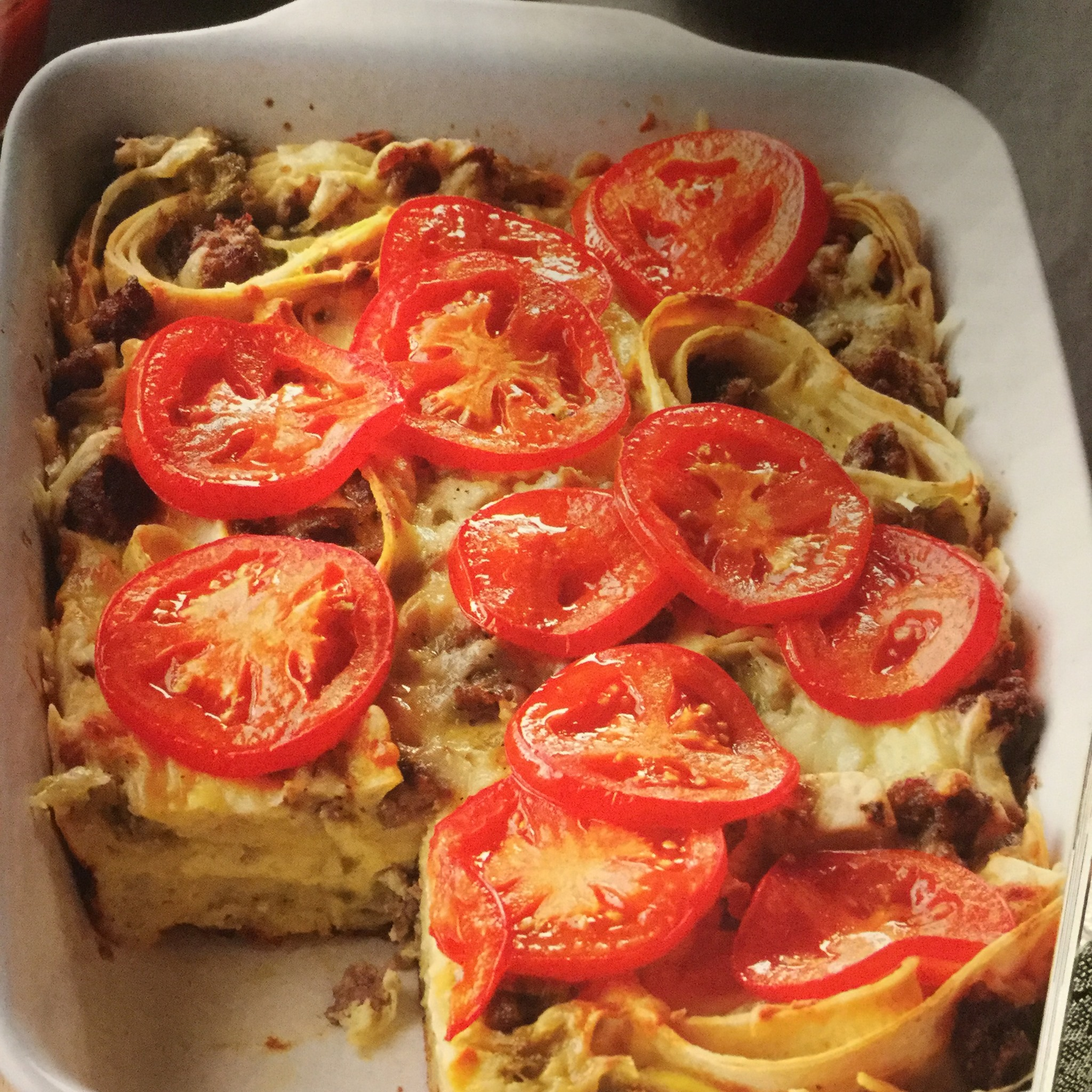 Layered Southwest Sausage Bake