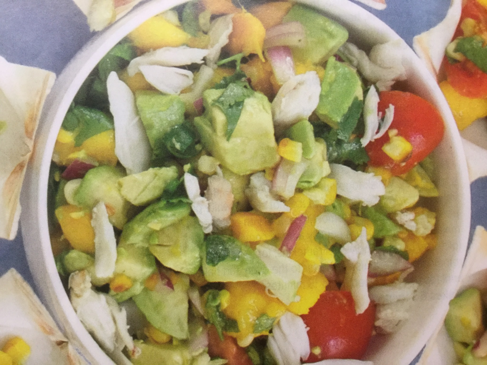Crab Salad With Roasted Corn And Lime Vinaigrette