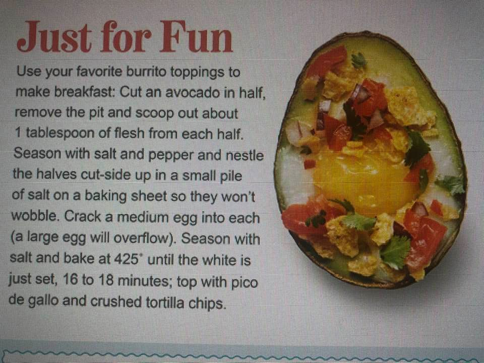 Today's Tip Is To Have Your Breakfast, Brunch, Lunch, Snack Or Dinner Rolled Into One !