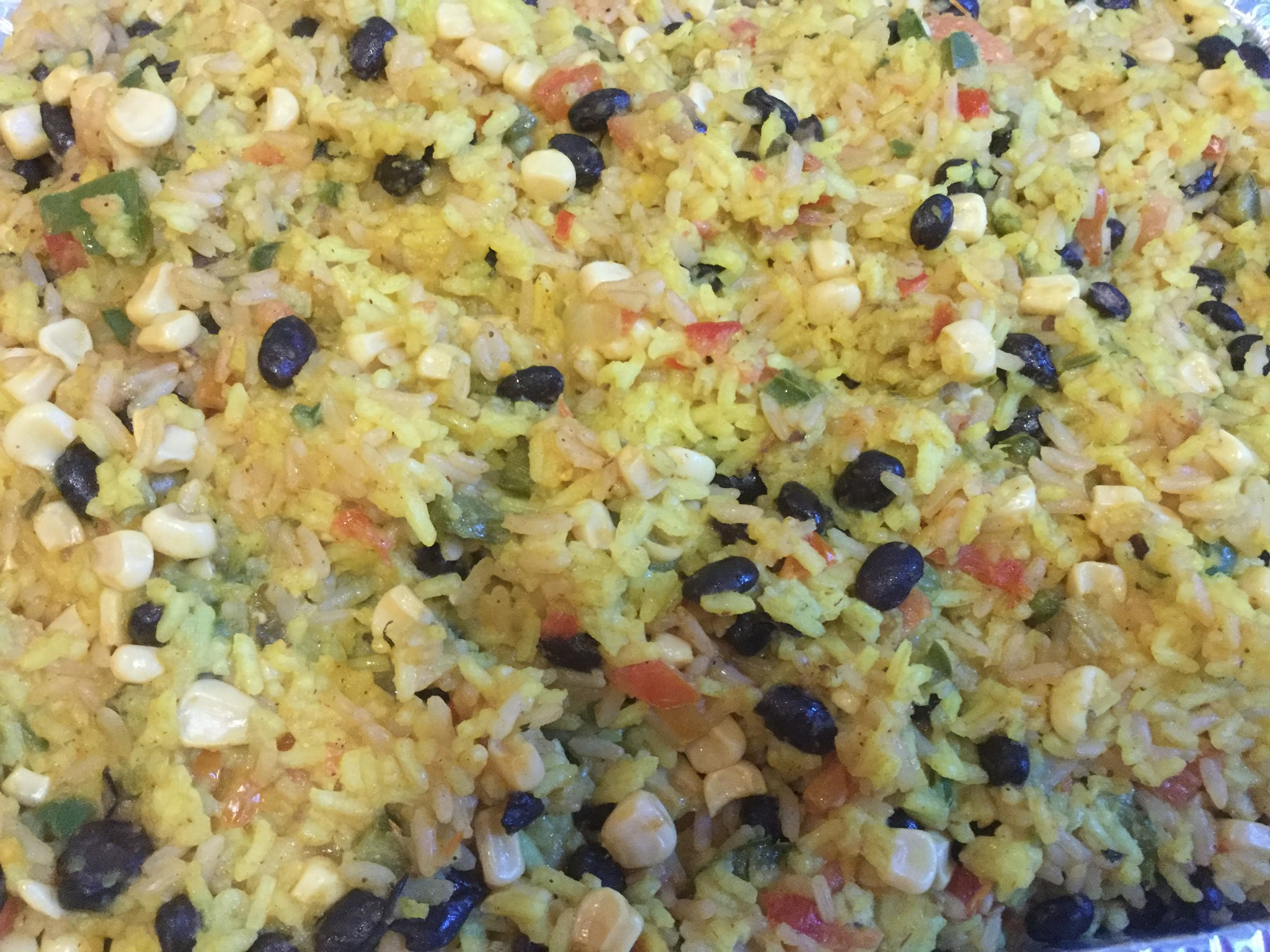 Spicy Spanish Rice, Beans And Corn Medley