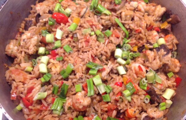 Mexican Yellow Rice With Crawfish