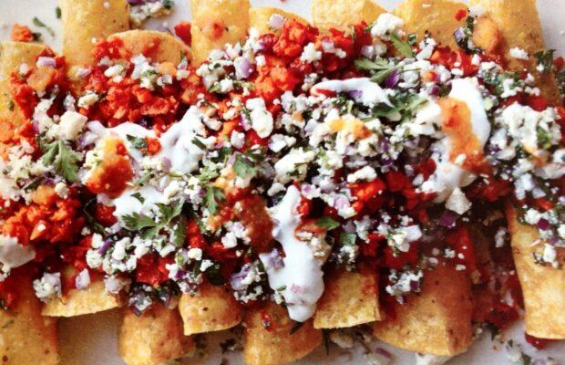 No-Bake Vegetarian Enchiladas