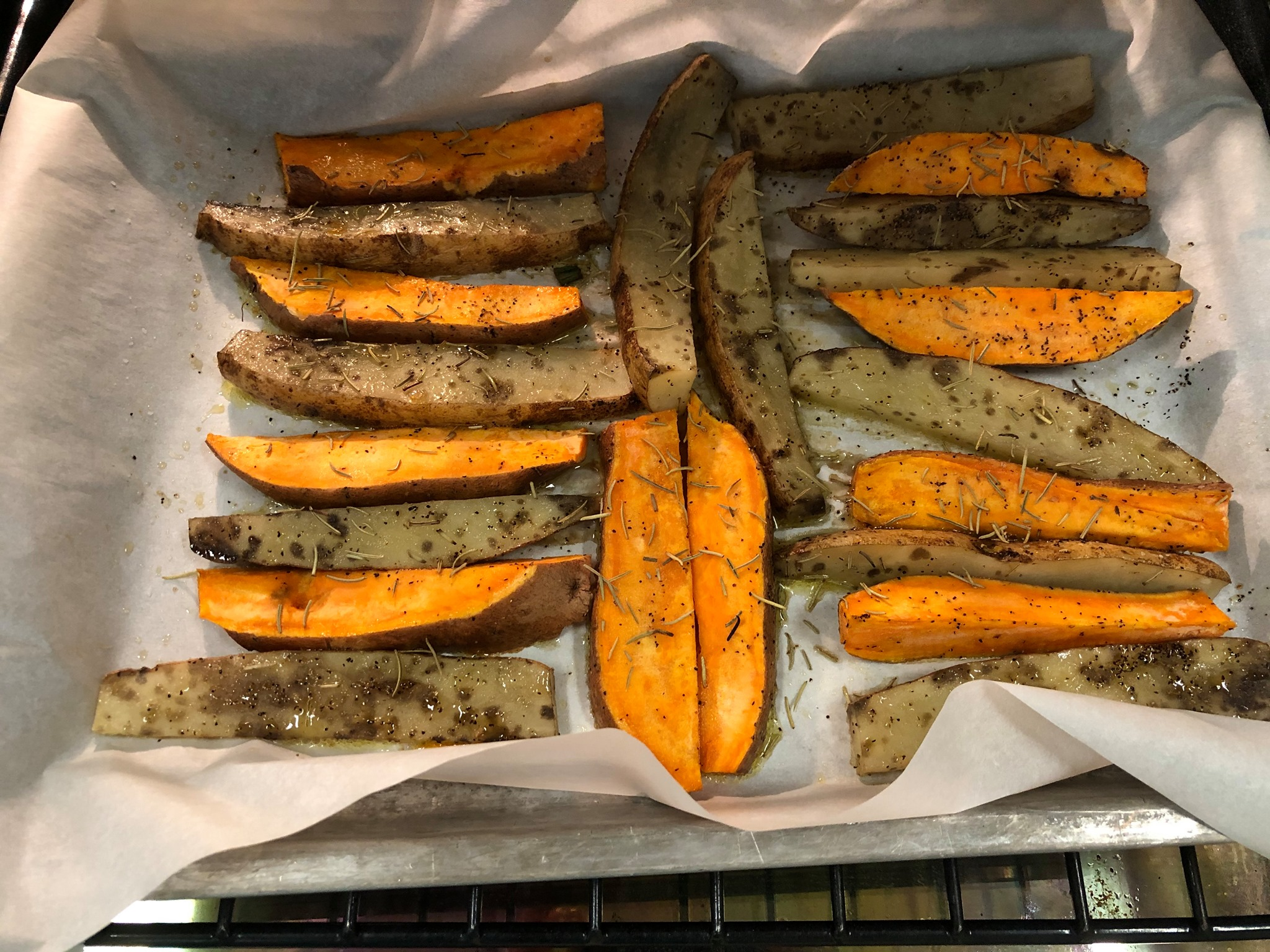 Oven-Roasted Yam And Russet Potato Spears