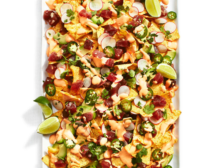 Tasty Tuna Poke Nacho Salad