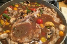 Smothered Center-Cut Pork Chops With Summer Veggies