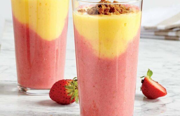 Creamy Berry-Mango Almond Shake