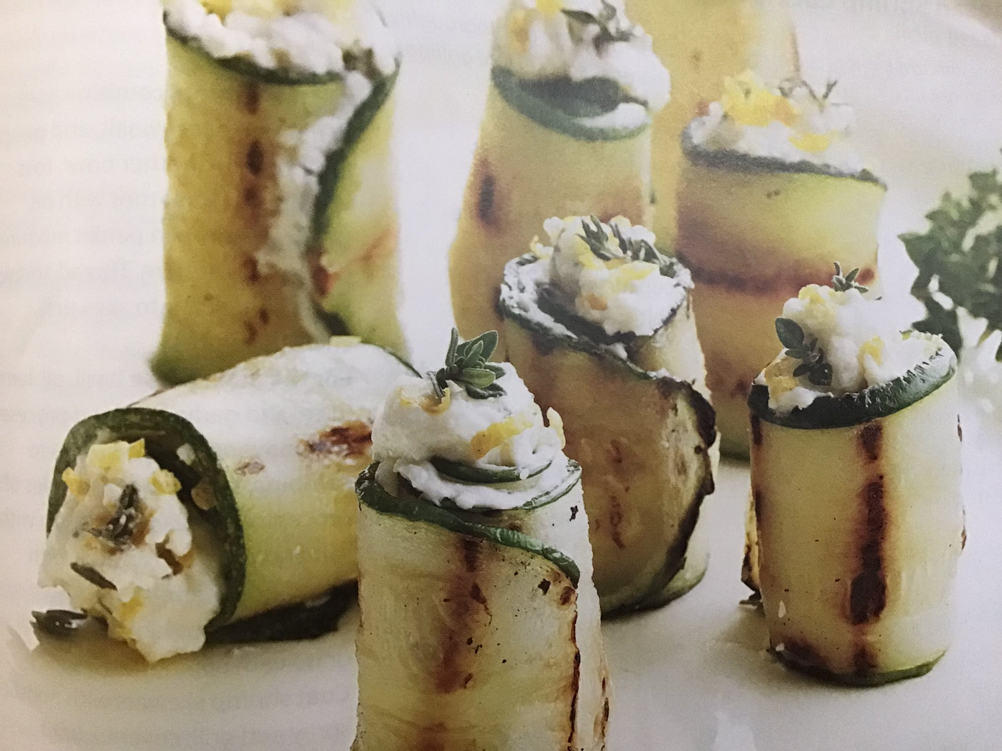 Unique Grilled Zucchini Roll-Ups