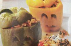 Cute Halloween Stuffed Peppers