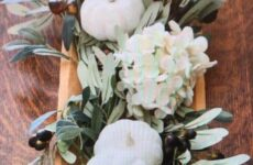 Fall Table With White Pumpkins