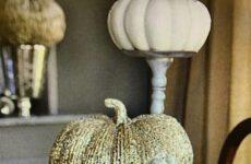 Golden Pumpkin Table Scapes