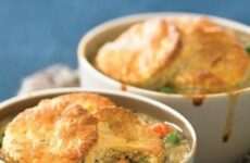 No-Fuss Biscuit-Topped Chicken Pot Pies